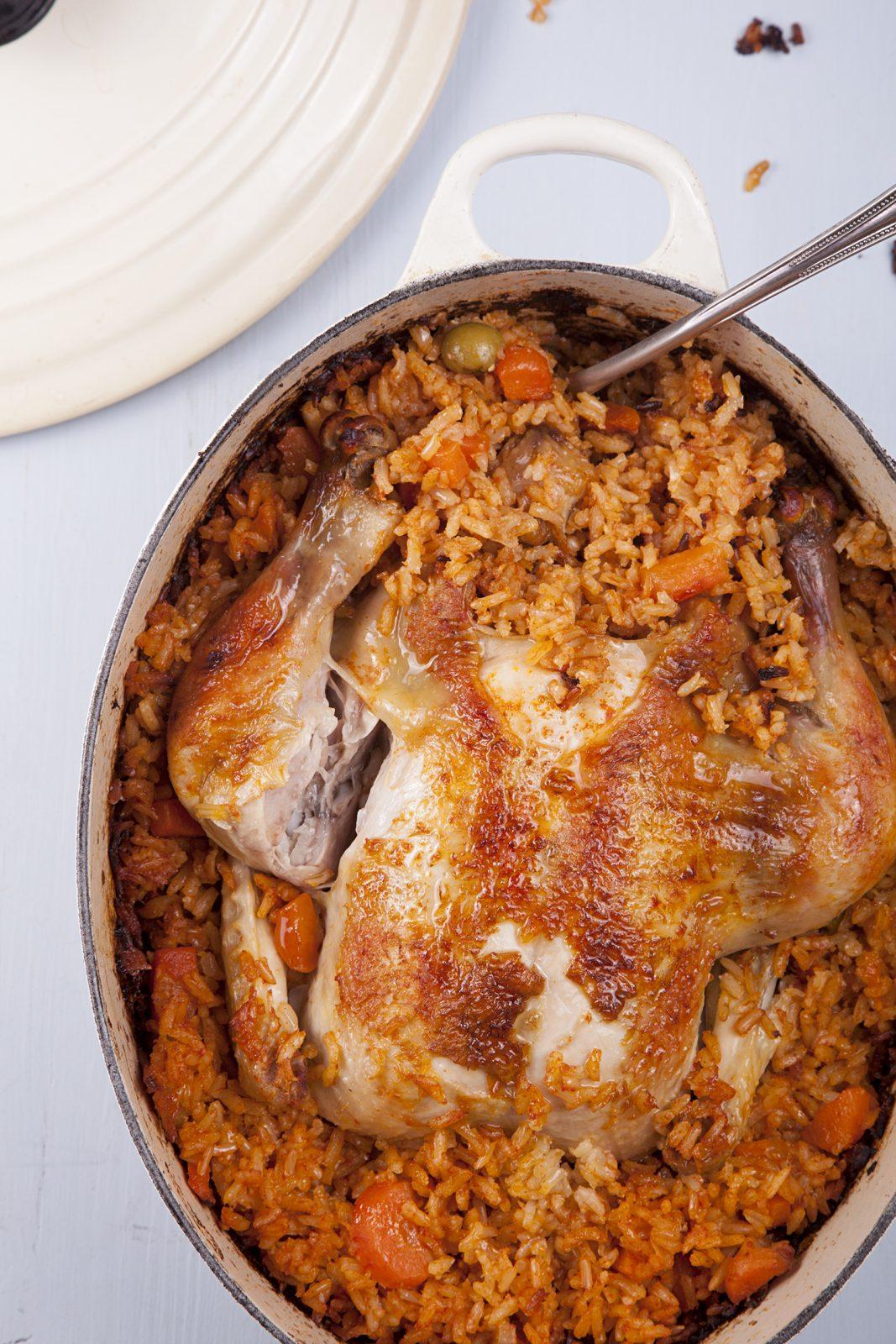 Chicken Baked in Rice - Delicious Gluten Free Recipe